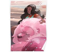 Stevonnie and Lion Poster