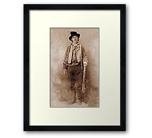 WANTED, Billy the Kid, Henry McCarty, William H. Bonney, Cowboy, American, Outlaw, Wild West Framed Print