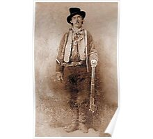 WANTED, Billy the Kid, Henry McCarty, William H. Bonney, Cowboy, American, Outlaw, Wild West Poster
