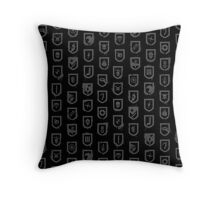 Shields of the Tomb Raider Throw Pillow