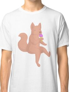 wolf eating sorbet! <3 Classic T-Shirt