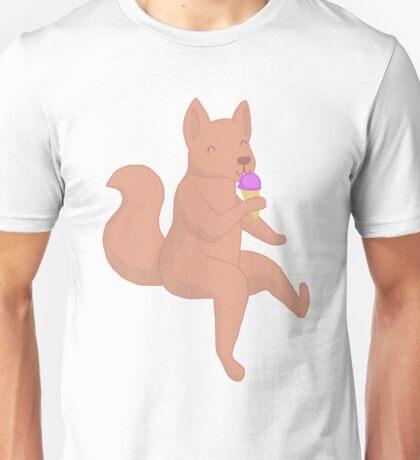 wolf eating sorbet! <3 Unisex T-Shirt