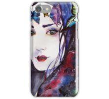 La Femme aux Papillons  iPhone Case/Skin