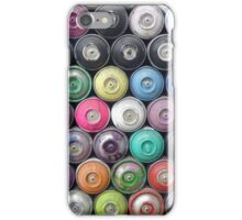 Colorful Spray Cans Wall iPhone Case/Skin