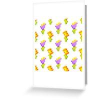 Pixel Flowers Greeting Card