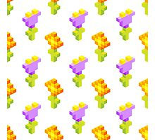 Pixel Flowers Photographic Print