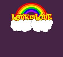 Gay Pride LOVE IS LOVE Rainbow, Pride Week Swag.  Womens Fitted T-Shirt