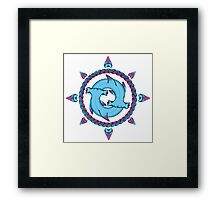 Shark Compass II Framed Print