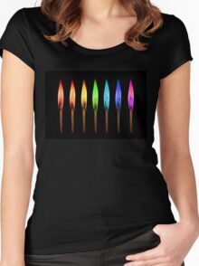 rainbow matches II Women's Fitted Scoop T-Shirt