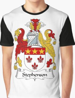 Stephenson Coat of Arms / Stephenson Family Crest Graphic T-Shirt