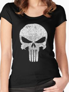 The Punisher Skull Women's Fitted Scoop T-Shirt