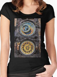 The astronomical clock of Prague Women's Fitted Scoop T-Shirt