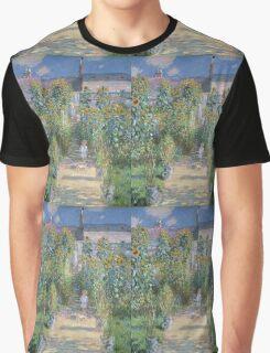Claude Monet - The Artists Garden at Vetheuil  Graphic T-Shirt