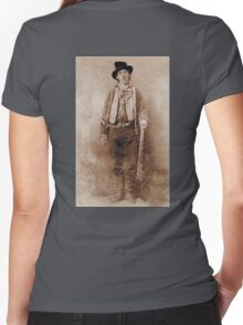 WANTED, Billy the Kid, Henry McCarty, William H. Bonney, Cowboy, American, Outlaw, Wild West Women's Fitted V-Neck T-Shirt