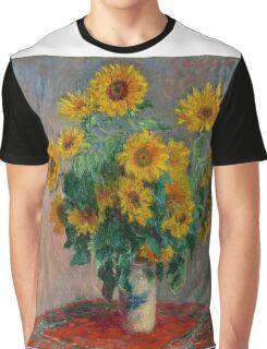 Claude Monet - Sunflowers Graphic T-Shirt