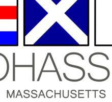 COHASSET, Massachusetts Nautical Flag Art Sticker