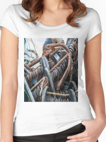 Anchor and Ropes Women's Fitted Scoop T-Shirt