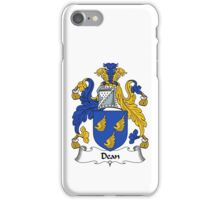 Dean Coat of Arms / Dean Family Crest iPhone Case/Skin