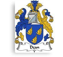 Dean Coat of Arms / Dean Family Crest Canvas Print