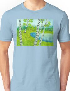 The birch tree forest Unisex T-Shirt