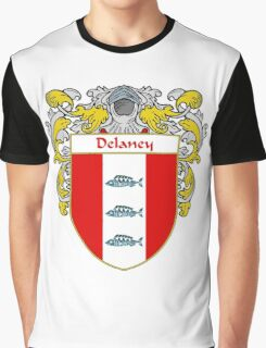 Delaney Coat of Arms/Family Crest Graphic T-Shirt