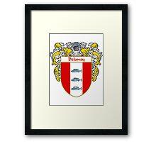 Delaney Coat of Arms/Family Crest Framed Print