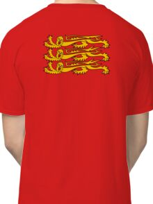 Three Lions, Royal Banner of England, England, 3 Lions, English, British, Britain, UK, RED Classic T-Shirt
