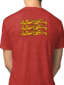 Three Lions, Royal Banner of England, England, 3 Lions, English, British, Britain, UK, RED Tri-blend T-Shirt