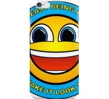 I'm Awesome Emoji Smile Sticker Smiley Uplifting Geek Good Job Meme iPhone Case/Skin
