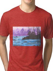River Landscape of China. Tri-blend T-Shirt