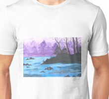 River Landscape of China. Unisex T-Shirt
