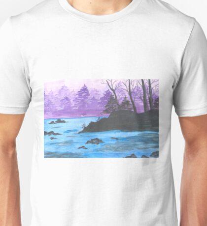 River Landscape of China. Unisex T-Shirt