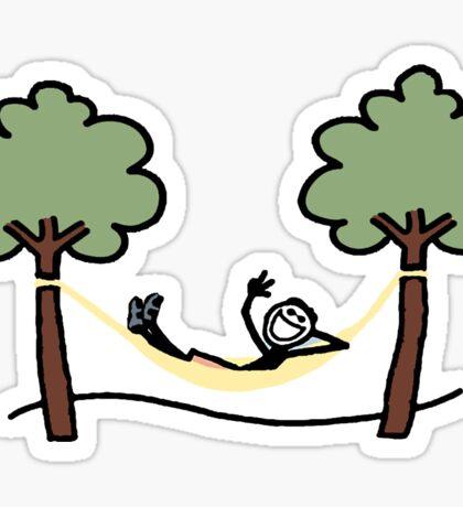 life is good hammock Sticker