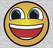 Happy Smile Emoji Smiley Face Be Happy Hipster Geek Funny Sticker One Piece - Long Sleeve