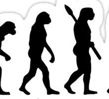 Evolution waitress Sticker