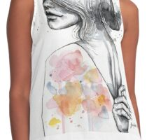 Implosion, watercolor artwork  Contrast Tank