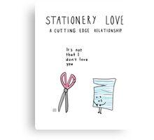 Stationery Love Canvas Print