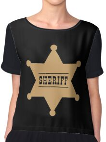 Sheriff's Star Chiffon Top