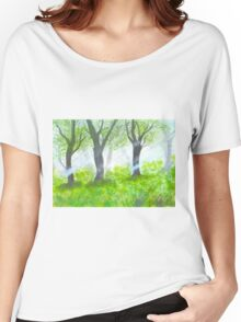 Forest with sunlight.  Women's Relaxed Fit T-Shirt