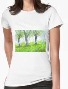 Forest with sunlight.  Womens Fitted T-Shirt