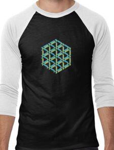Isometric Cube Men's Baseball ¾ T-Shirt