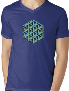 Isometric Cube Mens V-Neck T-Shirt