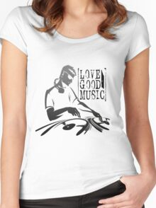 love good music !! Women's Fitted Scoop T-Shirt