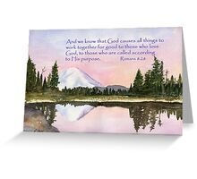 God's Promises - Romans 8:28 Greeting Card