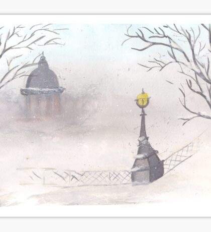 Beautiful winter scenery Sticker