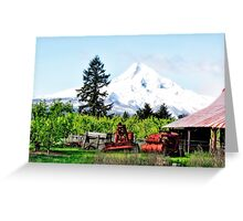 Farming In Parkdale Oregon Greeting Card