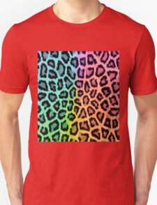 Colorful Leopard Animal Print Unisex T-Shirt