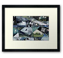 RUN Puzzle Framed Print