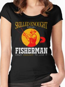 crazy fisherman Women's Fitted Scoop T-Shirt
