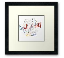 Treat yo' self - alternate Framed Print